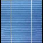 """Cella solare Policristallina 6""""x6"""" pollici (156X156 mm) di classe A a 2 bande di connessione da 3750mW di potenza"""