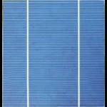 "Célula solar Policristalina 6""x6"" pulgadas (156x156 mm) A-Grade 2 barras colectoras a 3750mW de potencia"