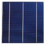 "High yield solar cell polycrystalline 6""x6"" inches (156X156 mm) A-grade 3 bus bars 4W power"