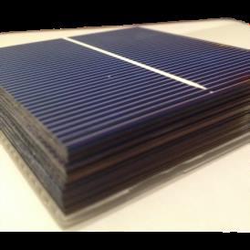 "Celula solar Policristalina 3""x3"" ( 76x76 mm ) A-Grade 1BB (Bus bar)"