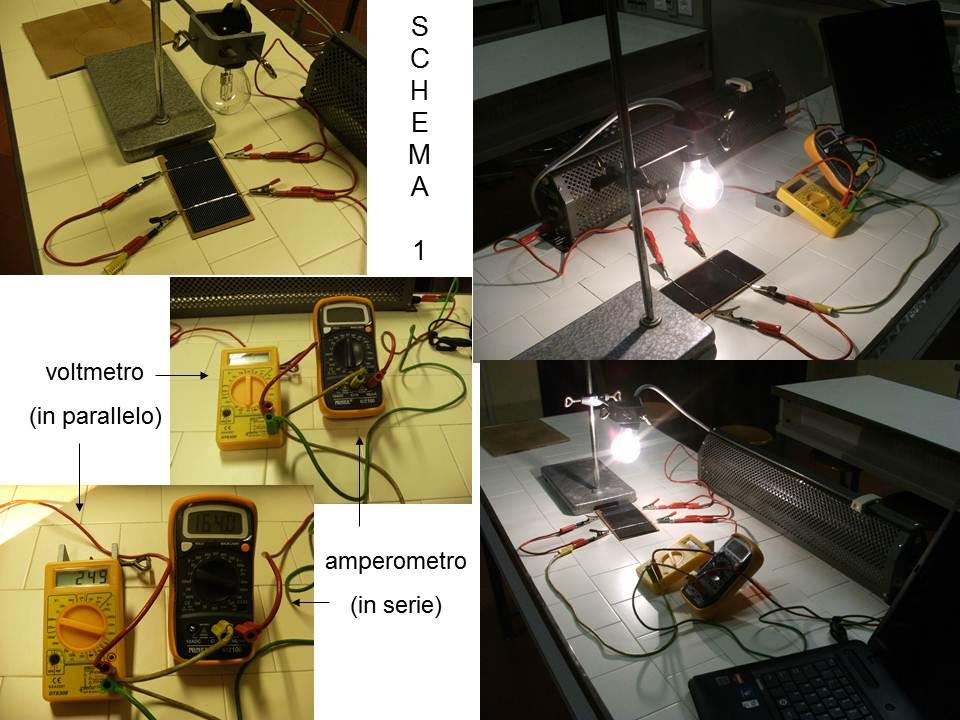 Immagini dei test di laboratorio eseguiti sulla cella solare 3X6, allestimento strumenti di misurazione