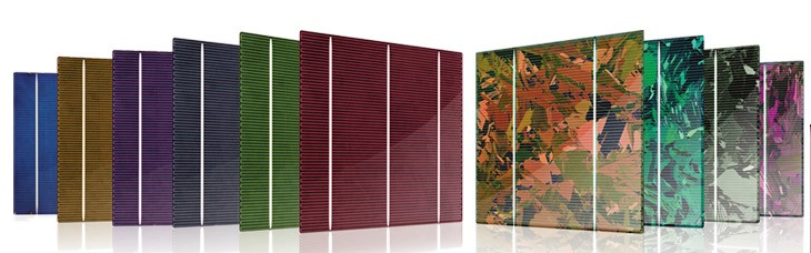 colored solar cells