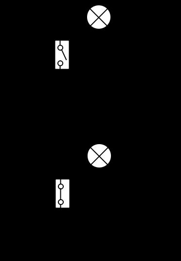 Schema circuito elettrico aperto/chiuso