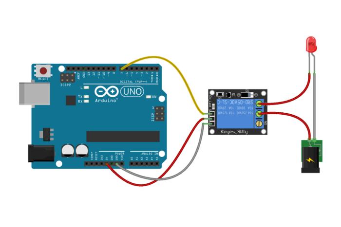 Relè Schema collegamento Arduino
