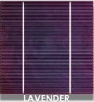 Solar cell Lavender color