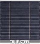 Solar cell true steel color