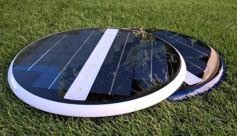 Azulejo solar subacuatico,para la iluminación de piscinas, fuentes, estanques